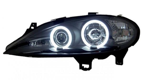 Scheinwerfer Angel Eyes CCFL Renault Megane 1 Bj. 99-02 Schwarz