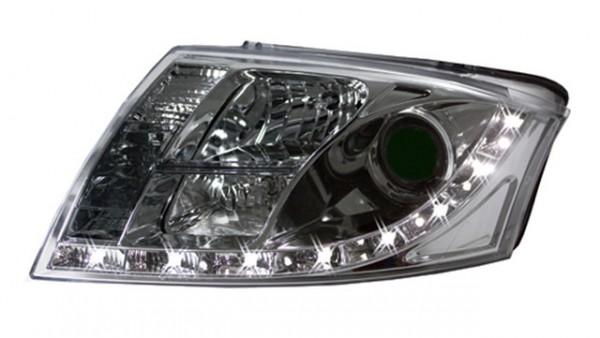 Scheinwerfer Tagfahrlicht Optik Audi TT 98-06 Chrom