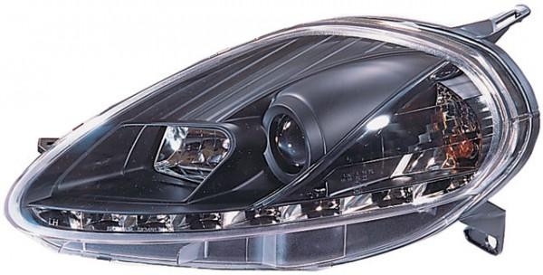 Scheinwerfer DRL Tagfahrlicht Fiat Grande Punto 08-09 Schwarz