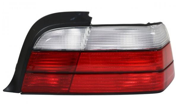 Rückleuchten Klarglas für BMW E36 Cabrio Bj. 93-99 Rot/Weiss