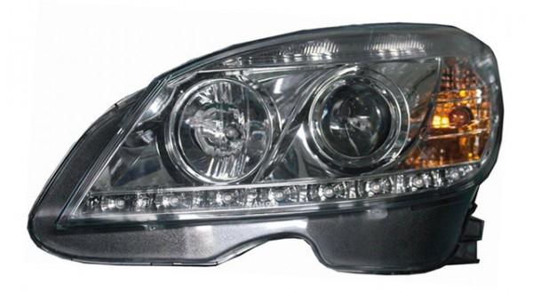Scheinwerfer Tagfahrlicht Optik für Mercedes Benz W204 Chrom
