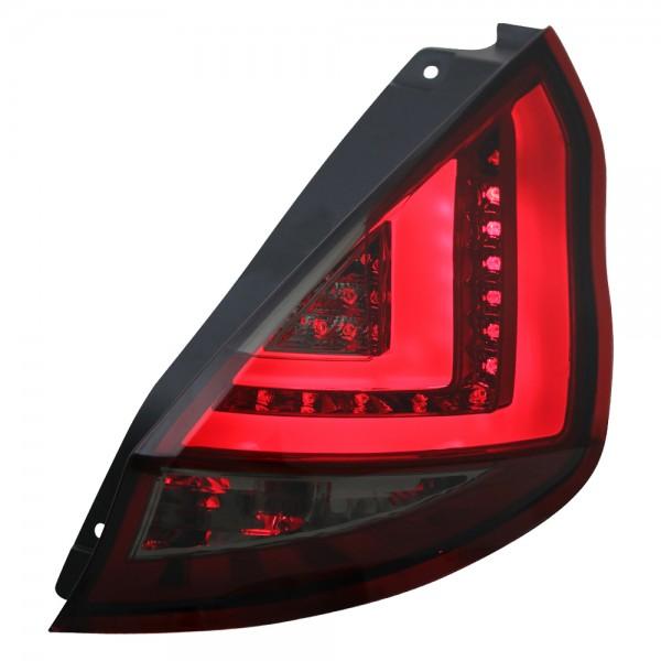 LED Lightbar Rückleuchten für Ford Fiesta MK7 3/5 Türer Bj. 13-17 Rot/Smoke