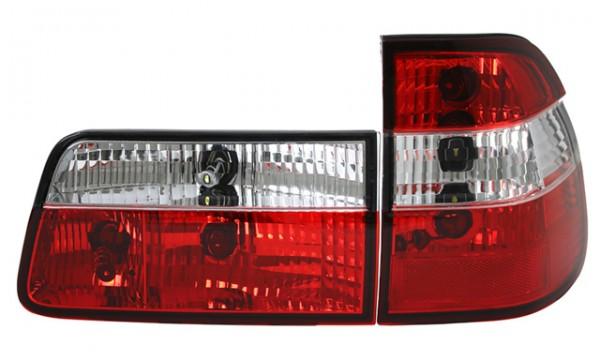 Rückleuchten Klarglas BMW E39 Touring Bj. 97-04 Rot/Chrom