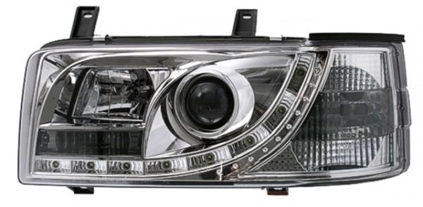 Scheinwerfer Tagfahrlicht Optik VW T4 Bj. 90-03 Chrom