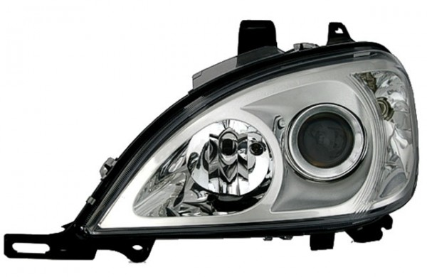 Depo Scheinwerfer Klarglas Mercedes ML W163 Bj. 01-05 Chrom