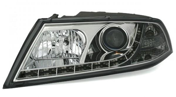 Xenon D1S Scheinwerfer TFL Optik Skoda Octavia Bj. 04-09 Chrom