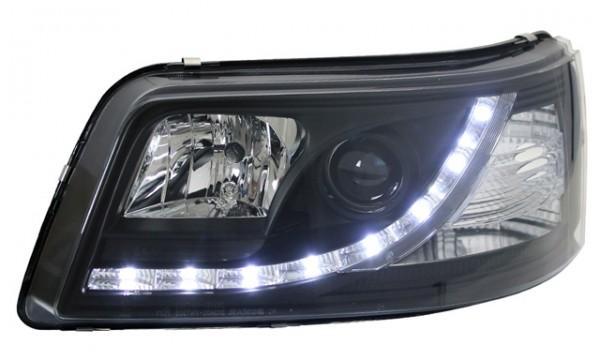 Scheinwerfer Tagfahrlicht Optik für VW T5 Bj. 03-09 Schwarz
