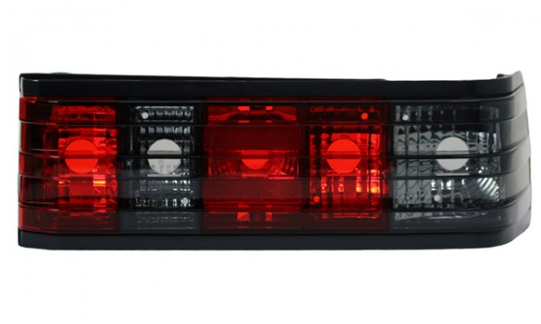Rückleuchten Klarglas für Mercedes 190 W201 Bj. 83-93 Rot/Schwarz